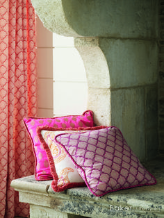 Cushions are Anisha, Madira & Kashmira, trimming is Nushi. Curtains are Kashmira from the Echo Indienne Collection by Baker Lifestyle at GP & J Baker.