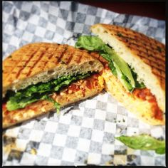 Pimento Cheese and Bacon Panini from Starland Cafe in Savannah, Ga. - friedgreensavannah.com