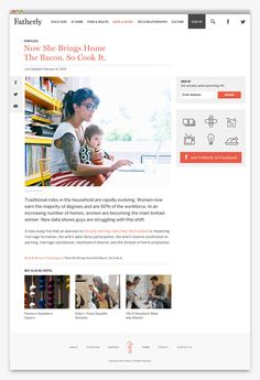 Fatherly website design by Apartment One