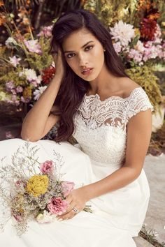 Wtoo Chase wedding dress Available at iCON: 301-355-4741 or visit iconbridalformal.com !