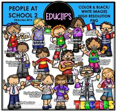People At School 2 Clip Art Bundle by EduClips on Etsy