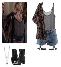 Hanna Marin - pll / pretty little liars by shadyannon on Polyvore featuring polyvore moda style Levi's Johnston & Murphy fashion clothing