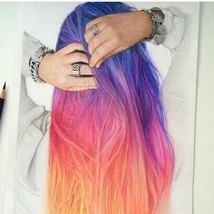 11 Hottest Ombre Hairstyles You Can Try - Ombre Ha .- 11 Heißesten Ombre Frisuren Können Sie Versuchen – Ombre Haarfarbe Ideen 11 Hottest Ombre Hairstyles You Can Try – Ombre Hair Color Ideas - Hair Dye Colors, Ombre Hair Color, Ombre Hair Rainbow, Rainbow Hair Colors, Pretty Hair Color, Corte Y Color, Coloured Hair, Dye My Hair, Pastel Hair