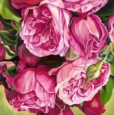 Showcased is the work of artist Jacqueline Coates. Oil Painting Flowers, Watercolor Flowers, Floral Paintings, Watercolour, Rose Art, Fantastic Art, Botanical Art, Beautiful Paintings, Flower Art