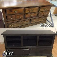 dresser to entertainment center, entertainment rec rooms, painted furniture