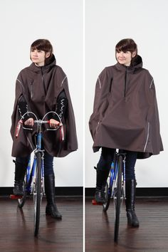 Rain poncho for the bike commute.