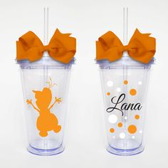 Olaf Disney Princess Frozen  Acrylic Tumbler by SweetSipsters, $12.00