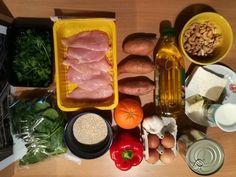 egészséges ebéd hozzávalók                    1 hétre Quinoa, Sausage, Healthy Living, Food And Drink, Keto, Cooking, Ethnic Recipes, Lunch Ideas, Red Peppers