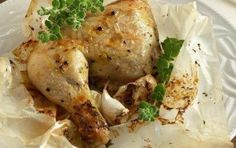 Chicken in parchment paper