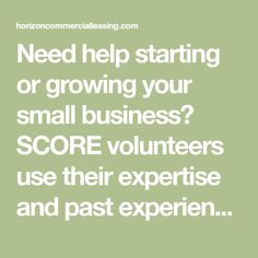 Need help starting or growing your small business? SCORE volunteers use their expertise and past experiences to take your business to the next level. Business Grants, Business Professional, Own Your Own Business, Volunteers, Commercial, Learning, Blog, Studying, Blogging