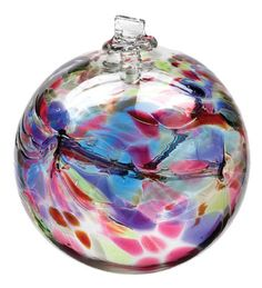 Hand Blown Glass Ornament Globe December by TheDepotLakeviewOhio