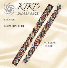 off loom beading techniques Loom Bracelet Patterns, Bead Loom Bracelets, Bead Loom Patterns, Jewelry Patterns, Beading Patterns, Beading Ideas, Mosaic Patterns, Embroidery Patterns, Beaded Bracelets