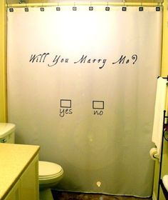 Marriage Proposal SHOWER CURTAIN
