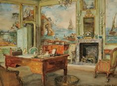 Walter Gay - American 1856-1937  View of a French Interior