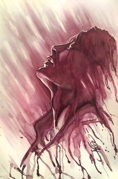 musingmayhem:  Imago - Hannibal red wine painting. The finale was incredible! Enjoy! MLH - musingmayhem