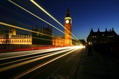 London at night. Big Ben