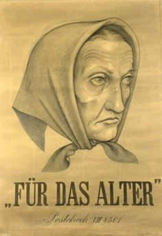 Plakate Niklaus Stoecklin, Affiche original Niklaus Stoecklin, Original Poster Niklaus Stoecklin, title For age technology lithography Switzerland, Poster, Faces, Technology, The Originals, Portrait, Art, Commercial Art, Swiss Guard