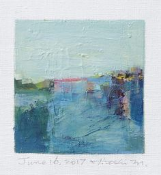 June 16 2017 Original Abstract Oil Painting 9x9 painting
