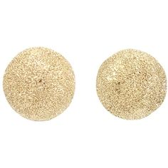 Carolina Bucci 'Mirador' half ball earrings ($1,340) ❤ liked on Polyvore featuring jewelry, earrings, accessories, brincos, joias, metallic, earrings jewelry, carolina bucci jewelry, gold jewelry and yellow gold earrings