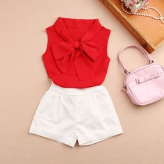 Spring Summer 2018 Kids Girls Shirts Chiffon Sleeveless Blouse Teenage Pure Color Bow Top Clothes for Girls Size 10 to 12 Shirts, Ropa de niña, Frocks For Girls, Little Girl Outfits, Kids Outfits Girls, Cute Girl Outfits, Cute Outfits For Kids, Teenager Outfits, Cute Summer Outfits, Little Girl Dresses, Shirts For Girls