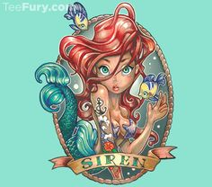 """Siren"" by Tim Shumate is available now. Get yours here: http://www.teefury.com/?utm_source=pinterest&utm_medium=referral&utm_content=siren&utm_campaign=organicpost?&c3ch=Social&c3nid=Pinterest"