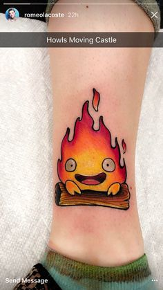 Calcifer Tattoo- Romeo Lacoste