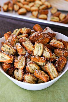 Easy Parmesan Garlic Pretzels made with store-bought pretzels