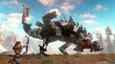 Horizon-Zero Dawn, Large Robotic enemy looks amazing. The combat gameplay preview with it is cool!
