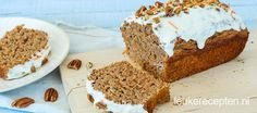 Carrot cake bananenbrood - Leuke recepten Dutch Recipes, Sweet Recipes, Baking Recipes, Cake Recipes, Healthy Sweets, Healthy Baking, Sugar Free Recipes, High Tea, Carrot Cake