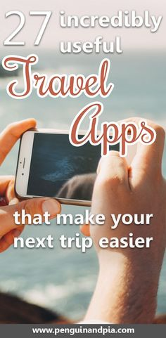 27 incredibly useful travel apps that will be sure to make your next trip easier. From booking flights and accommodations, to taking public transport and communicating with locals in a foreign city - we've compiled a list of the best travel apps to help you on your next adventure. #travelapps #traveltipps #traveleasy