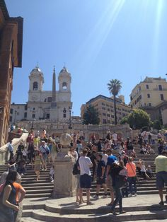 The Spanish Steps in spring :) #Rome #Italy