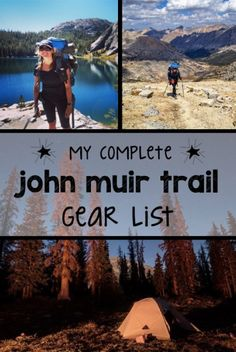 Planning a long-distance backpacking trip? This complete John Muir Trail gear list includes all of the camping gear, clothes & hiking essentials you need. Thru Hiking, Camping And Hiking, Hiking Trails, Backpacking Tips, Hiking Gear, Camping Packing, Camping Gear, Camping Hammock, Ultralight Backpacking