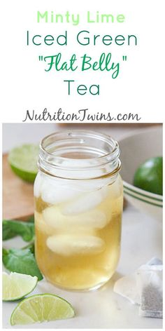 "Minty Lime Iced Green ""Flat Belly"" Tea Only 8 Calories Nutrients & Green Tea Benefits help Flush Bloat, Calm Insides Feel lighter & Bloat-free For MORE RECIPES, fitness & nutrition tips please S Healthy Foods To Eat, Healthy Snacks, Healthy Eating, Healthy Detox, Easy Detox, Healthy Water, Healthy Weight, Vegan Detox, Clean Foods"