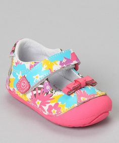 Take a look at this Pink & White SRT SM Tropicalia Mary Jane by Stride Rite on #zulily today!