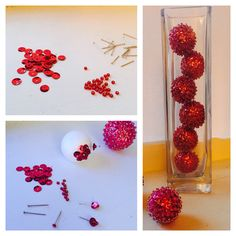 How to make homemade disco balls. # Pretty decorations:)