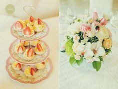 www.vanillaevents.ro Tiered Cakes, Vanilla, Events, Candy, Bar, Candles, Candy Bars, Bunting Cake Toppers
