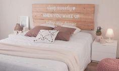 Cabeceros de cama artesanos | Decorar tu casa es facilisimo.com Dream Bedroom, Girls Bedroom, Bedrooms, Diy Room Decor, Bedroom Decor, Home Decor, Diy Deco Rangement, Relaxation Room, My New Room