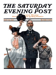 """""""Salute to Colors"""" Saturday Evening Post Cover, May 12,1917"""