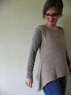 Ravelry: Rosa's Sleeveless Cardi -Jumper pattern by Emma Fassio. Free pattern