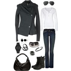 Hoodie, Jeans, & Boots - Polyvore