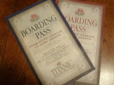 "Titanic Boarding Passes I like the ""vintage look"" of these passports. Plus, the idea of passports could be fun to use somewhere! Rms Titanic, Titanic Photos, Titanic Sinking, Titanic History, Titanic Ship, Titanic Museum, Titanic Movie, Belfast, Titanic Artifacts"