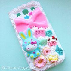 Kawaii Big Bunny Kitty Decoden Sweets Phone case for by YYKawaii, $30.00