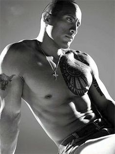 Dwayne 'The Rock' Johnson    Hello Hottie! Mmm those muscles. I'll have one of those for xmas please!