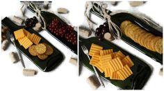 Gastgeberin Geschenk Wein-Flasche-Käse geschmolzen Tray von RayMels