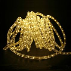 DQDF 32ft Heavy Duty LED Rope Lightsoutdoor rope lighting Christmas Holiday Business Restaurant Light Kit 110V60Hz Warm White *** Click image to review more details.