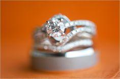 wedding, ring, gorgeous, unique, orange, white, wedding, engagement