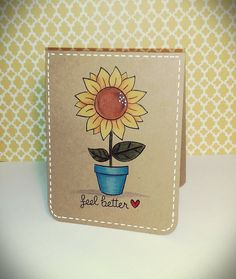 Lawn Fawn - Our Friendship Grows _ lovely CAS Get well card by Tara via Flickr - Photo Sharing!