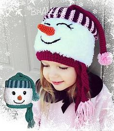 This pattern is very versatile. You can make it for a boy or a girl, with open eyes or closed eyes, and with a fuzzy hat base or non-fuzzy (regular worsted weight) hat base. This pattern is written in US Terms. If you have any questions I would be more than happy to help and my email is listed on the pattern. This comes in PDF format and is 13 pages long.  $5.99