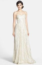 Erin by Erin Fetherston 'Coralie' Foiled Silk Chiffon Gown