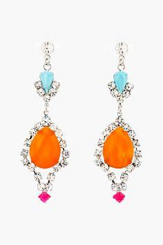 Shop now: Tom Binns Orange Now Drop Earrings